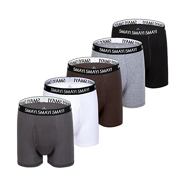 5Mayi Mens Underwear Boxers Cotton Underwear Mens Boxers for Men Pack S M L XL XXL