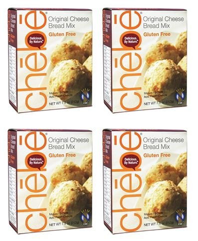 Chebe Bread Original Cheese Bread Mix, Gluten Free,7.5 Oz (Pack of 4)