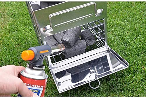 TeRIydF Mini Cuisson Pique-Nique Barbecue en Plein air poêle Portable léger en Acier Inoxydable Bois brûlant Camping Pliant Barbecue poêle