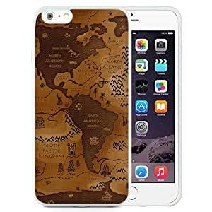 New Beautiful Custom Designed Cover Case For iPhone 6 Plus 5.5 Inch With World Map (2) Phone Case