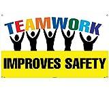 National Marker BT532 Teamwork Improves Safety Banner