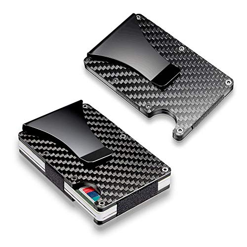 Wallet Clip Fiber Money Holder Slim Carbon Men Metal Card Credit gUATwT