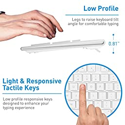 Macally 104 Key USB Wired Keyboard with Apple Shortcut Keys and 3 Button USB Optical Mouse Combo for Mac and Windows PC (MKEYECOMBO)