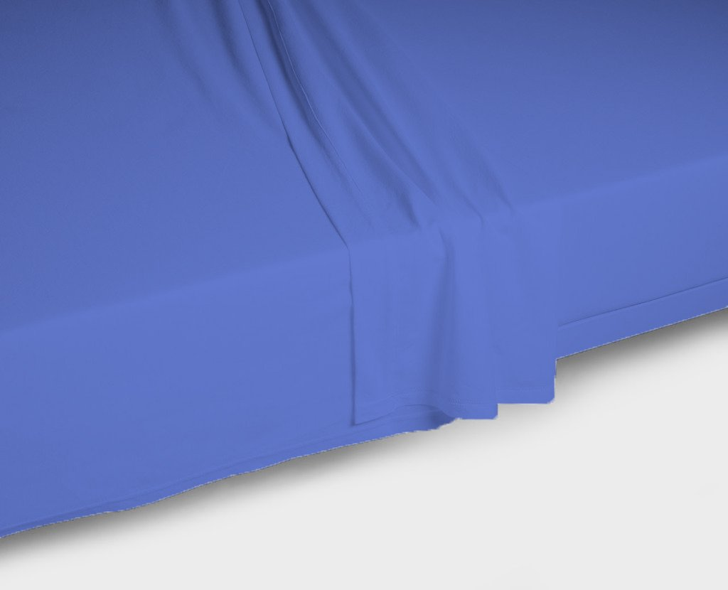 EGYPTO Flat Sheet 100% Combed Polycotton - Breathable, Cozy, Comfortable and Exceptionally Durable - Available in 19 Colours (Double Bed Flat Sheet, Black)