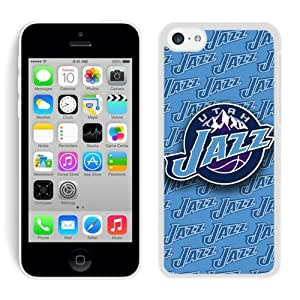 iPhone 5C Utah Jazz White Phone GMNBVZX Case Custom and Durable Cover