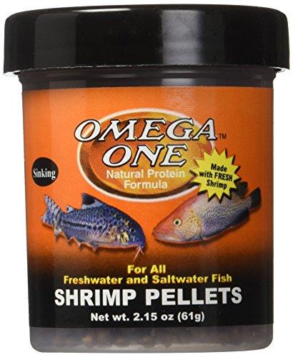 Sinking Shrimp Pellets - Omega 03291 1 One Shrimp Pellet 2.15oz, Yellow