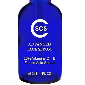 20% Vitamin C & E Ferulic Acid Serum for Face and Eyes - Rejuvenating Anti  Aging Skin Repairer for Sun