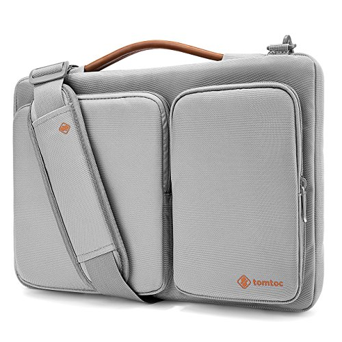 "Tomtoc Original Laptop Shoulder Bag with CornerArmor, Compatible with MacBook Air 13.3 | 13"" MacBook Pro Retina 2012-2015 