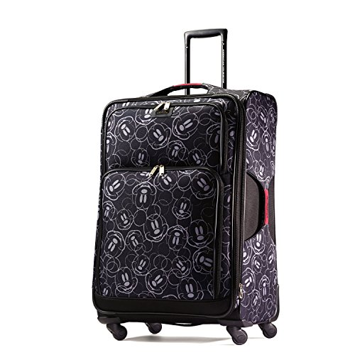 Tags Mickey (American Tourister Disney Mickey Mouse Multi-Face Softside Spinner 28, Multi, One Size)