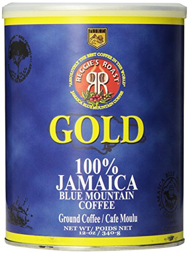 - Reggie's Roast 100% Jamaica Blue Mountain Ground Coffee, 12-Ounce Can
