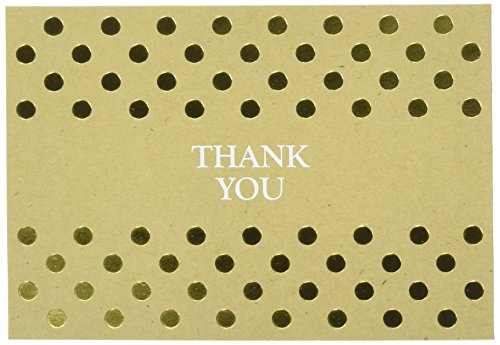 Great Papers! Kraft Foil Thank You Note Card and Envelope - 4.875