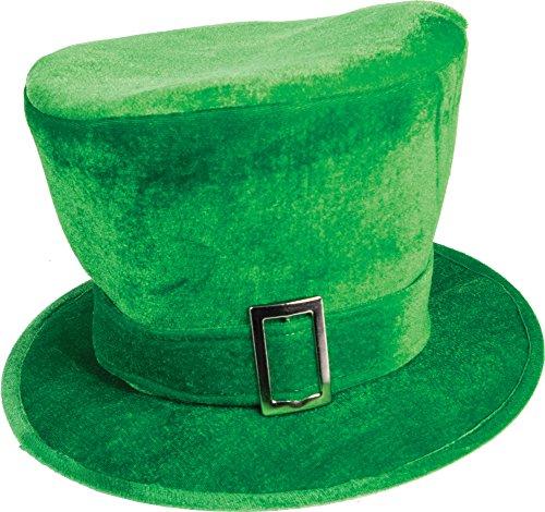 Forum Novelties, Saint Patrick's Day Leprechaun Stovepipe Plush Green Hat Costume Accessory (Plush Hat Leprechaun)