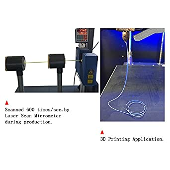 Suntop Pla 3d impresora filamento 1,75 mm seda morado, RoHS, 1 kg () (Bobina, Dimensional precisión +/-0,03 mm: Amazon.es: Amazon.es