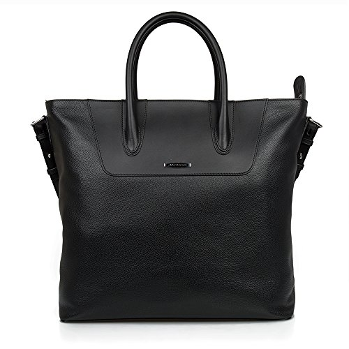 Jaguar Ultimate Leather Tote Bag Black Bolsa de tela y playa, 54 cm, Negro (Black)