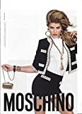 --PRINT AD With Isabeli Fontana For 2010 Moschino Black Suits --PRINT AD--