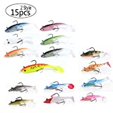 East Rain Soft Lead Jig Heads with Paddle Tail for Saltwater Freshwater Fishing Lures (PVC/0.68oz/3.94inch/7 Colors Options)