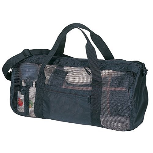 SDI 636391901048 Sport Gym Mesh Roll Bag, Black