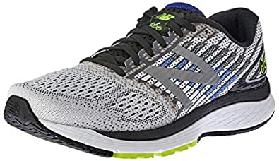 New Balance Men's 860 V9 Running Shoe, White/Blue, 7 US (Wide)