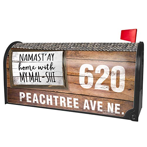 NEONBLOND Custom Mailbox Cover Namast'ay Home with My Mal-Shi Simple -