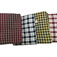 Shri Anand Creations 100% Cotton Multi Checked Mattress Cover