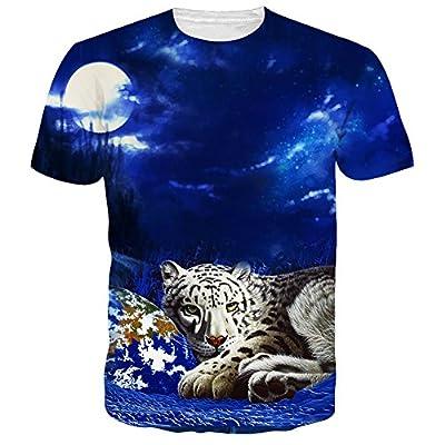 Idgreatim Unisex Casual 3D Print Animal Short Sleeve T-Shirt Graphic Tees