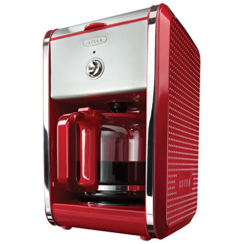 BELLA 13700 Dots Collection 12-Cup Coffee Maker, Red (Bella Permanent Coffee Filter compare prices)