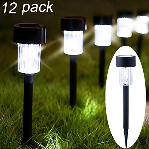 Maggift 12 Pack Solar Pathway Lights Solar Garden Lights Outdoor Solar Landscape Lights for Lawn, Patio, Yard, Walkway, Driveway by Maggift