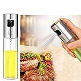 Best AirGo Glass Oil Sprayer Dispenser Stainless Steel Olive Oil Spray Bottle for BBQ,Cooking Frying 100mL (1PACK)
