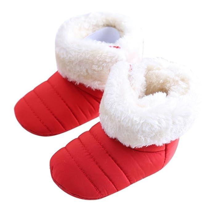 cdae2e03bb44 Oksale Baby Boy s Winter Warm Cloth Soft Sole Crib Shoes Snow Boots ...