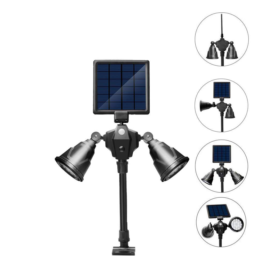 Umiwe Solar Lights,2-in-1 Waterproof Outdoor Landscape Lighting Spotlight Wall Light Motion&Dark Sensor Auto On/Off for Yard Garden Driveway Pathway Pool-Patented Product