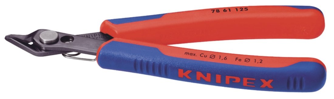 Knipex 12306 125mm Spring Steel Electronics Super-Knips Draper