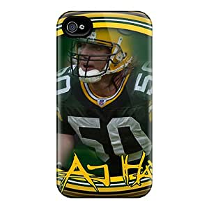 Durable Case For The Iphone 4/4s- Eco-friendly Retail Packaging(green Bay Packers)