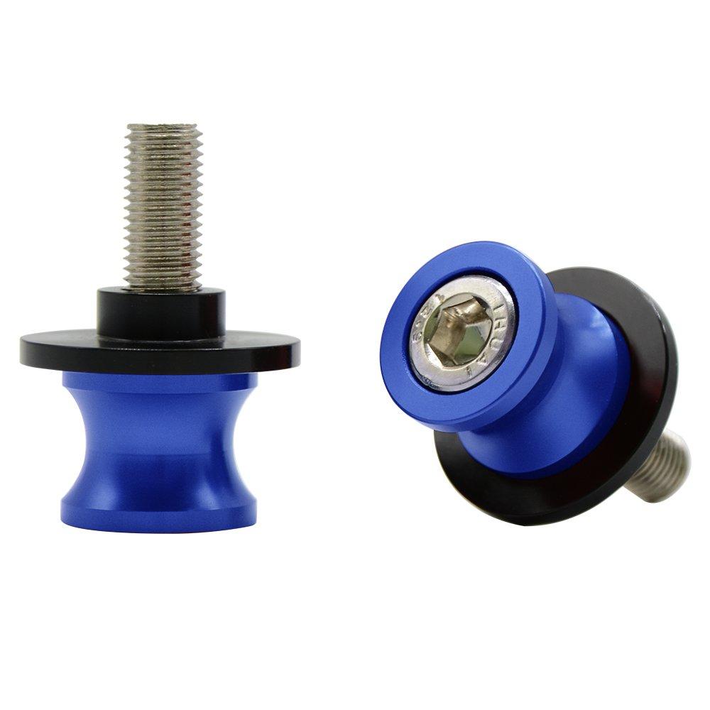 Titanio Universal CNC Aluminio Diabolos M10*1.25 Basculante de Deslizadores Tornillos del Soporte para Duke//RC 125 200 390 ZX6R ZX10R Z750 Z1000 Z1000SX ER6N ER6F Ninja 250 300