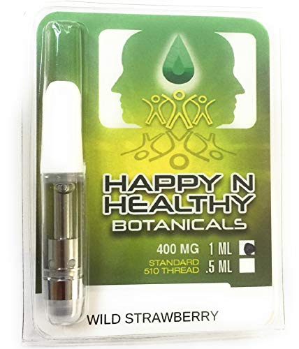 Hemp Oil Vape Cartridge 510 Thread 1 ml 400 mg Flavor Wild Strawberry