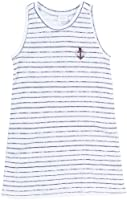 Egg by Susan Lazar Little Girls' Slub Jersey Tank Dress (Toddler/Kid) - Navy Stripe