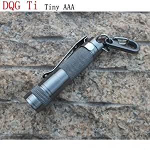 DQG AAA CREE XP-G2 R5 1A/3B Tiny Titanium Alloy LED Flashlight --- Color:Cool white
