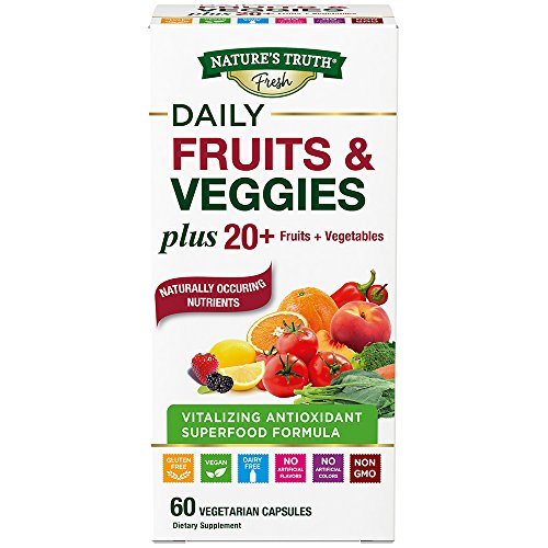 Nature's Truth Super Fruits & Veggies Capsules, 60 - Fruit Rocks