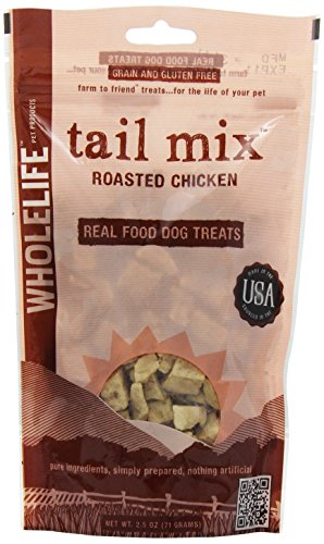 Whole Life Pet Tail Mix Real Food Treats for Dogs-Roasted Chicken, 2.5oz