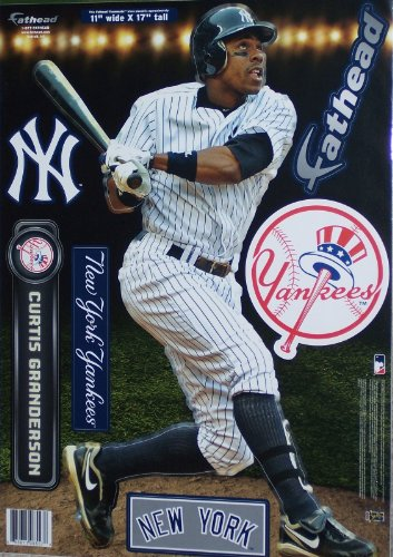 Fathead Vinyl (Curtis Granderson Fathead174; New York Yankees MLB Vinyl Wall Graphic 17
