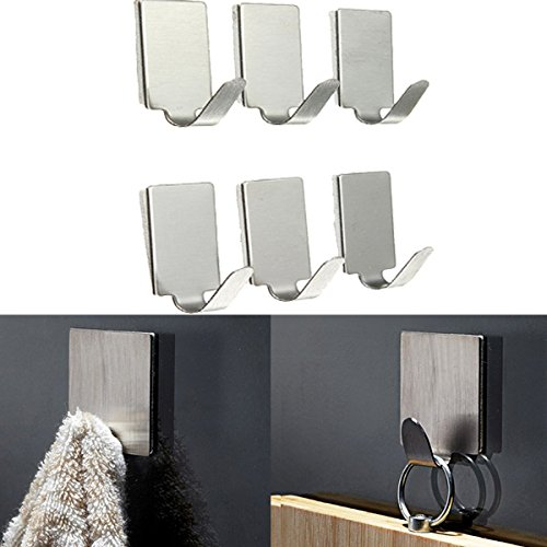 Bathroom Storage & Organisation - 6pcs Rect Stainless Steel