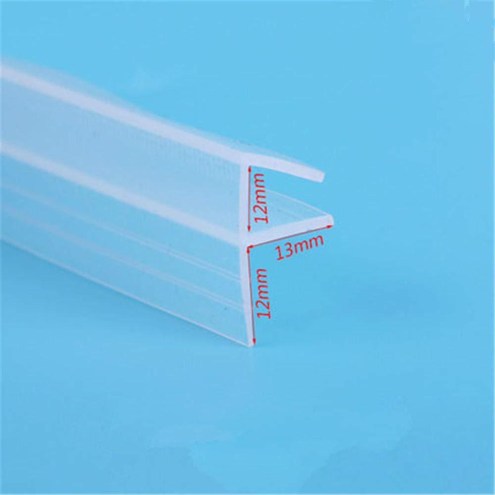 burlete para vidrio-Los 6MM 5 metros en forma de F de goma de silicona en la sala de ducha con pantalla de borde de la puerta tira de sellado de vidrio