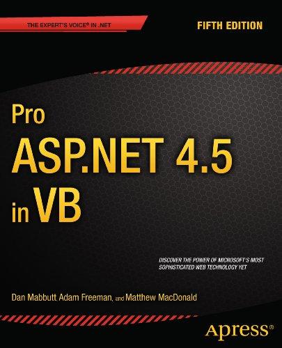 Pro ASP.NET 4.5 in VB Pdf