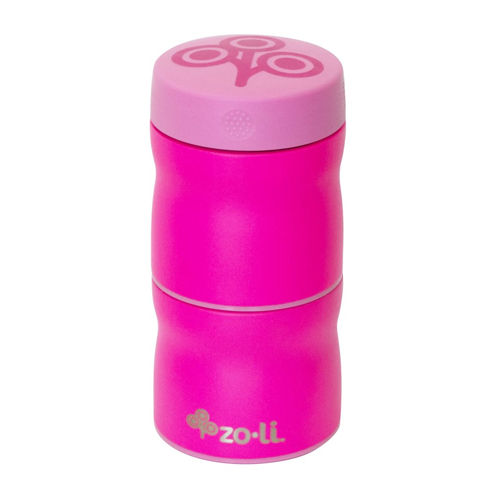 ZOLI - POW This & That - Stainless Steel Insulated Modular Food containers - Pink JellyBean/First Steps ZL-BF17TTPP01