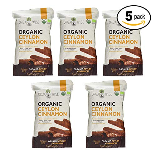 Organic Wise Ceylon Cinnamon Ground Powder, 1 lb-From a USDA Certified Organic Farm and Packed In The USA-5 Pack Bundle by Organic Wise (Image #1)
