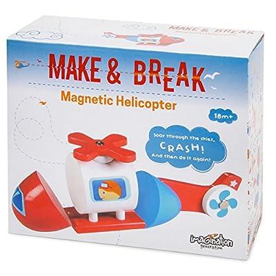 Imagination Generation Wooden Wonders Make & Break Magnetic Helicopter (3pcs. Kit): Toys & Games