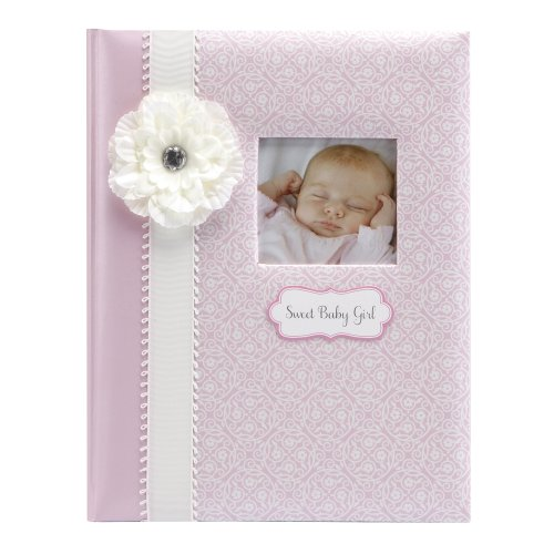 - C.R. Gibson Pink and White 'Sweet Baby Girl' Loose Leaf First Five Years Baby Book, 64pgs, 10'' W x 11.75'' H