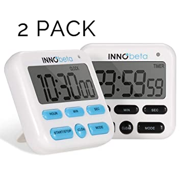 InnoBeta Temporizador Digital de Cocina, Temporizador Prémium de Cocina, Cronómetro de Cuenta Progresiva &