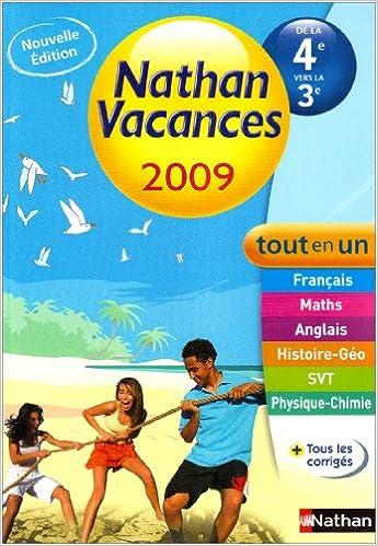 Amazon Fr Nathan Vacances De La 4e Vers La 3e Tout En Un