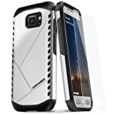 COVRWARE® Samsung Galaxy S7 Active [Shield Series] Protective Case + Tempered Glass Screen Protector [Slim Fit][Lightweight] Dual Layer Armor Case - Silver (CW-S7Act-SH11)
