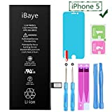 Ibaye - Battery Replacement for iPhone 5 1440mAh Compatible with A1428,A1429,A1442 Battery Adheisve